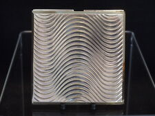 FRENCH ART DECO STERLING SILVER COMPACT C1930