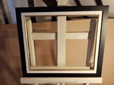 Encadrement en bois ,satiné noir avec ML ivoire bec doré 46 x 38 cm 8F