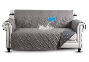 Ameha Three Seater Sofa Cover Reversible Dark Grey/Light Grey 280 x 179 cm - New