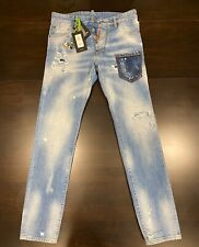 "$830 Men's Authentic DSQUARED2 Cool Guy ""Rave On"" Skinny Jeans 46/US 36"
