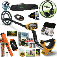 Garrett ACE 300 Metal Detector, Headphones & Propointer AT, Waterproof Coil, Bag