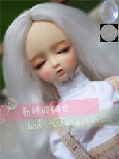 "7-8"" 1/4 BJD White Long Curly Wavy Wig LUTS Doll SD DZ DOD MSD Hair +Cap HUAL"