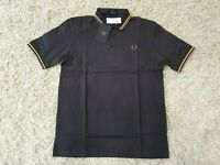 "FRED PERRY ""Made In Japan"" M102 Short Sleeve Pique Polo Top-Anchor Grey Size S"