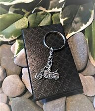 Handmade Motorbike Motorcycle Silver Plated Keyring. Dad Father. Gift Boxed.