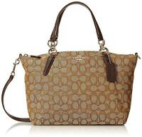 Coach Small Kelsey Satchel In Signature Jacquard F27582
