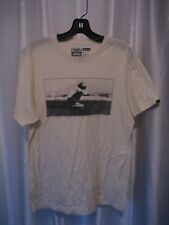 Vans Off the Wall Men's Premium Original T Shirt Cream Skateboarder Sz M PreOwn