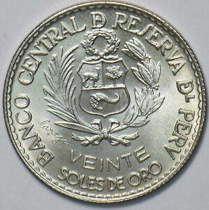 Peru 1965 20 Soles 293691 combine