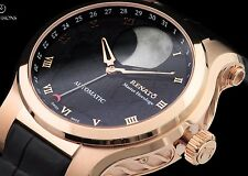 Renato Master Horologe Martin Braun Modified Patented Moonphase Rose Black Watch