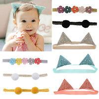 Kids Girl Baby Toddler Bow Headbands Hair Band Accessories Headwear Head Wraps