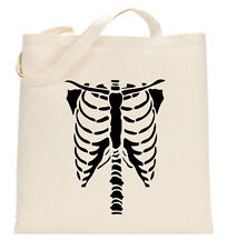 Skeleton Rib Cage Halloween Costume Fancy Dress! Tote Bag Life Eco Shopping Gift