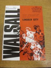 14/09/1976 Walsall v Lincoln City  (Slight Crease). Thanks for viewing this item