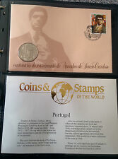First Day Cover with coin Amadeo De Souza Cardoso (Portugal) issued 18/10/89