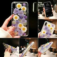 TPU Purple Flower Phone Case Cover for iphone 6splus/7 plus/8plus/X/XS/XR/XS MAX