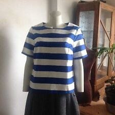 Unbranded Striped Crew Neck Waist Length Women's Tops & Shirts