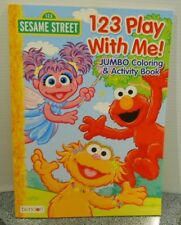 123 Sesame  Street Jumbo Coloring And Activity 123 Play With Me 2012 New