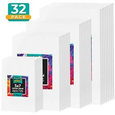 Artist Painting Canvas Panels, 24 White Canvas Boards, Various Sizes, Free Ship!