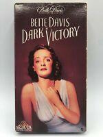 Dark Victory VHS MGM/UA 1990 Noir Bette Davis Humphrey Bogart