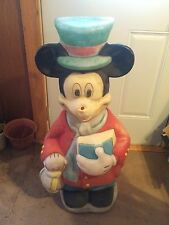 VINTAGE MICKEY MOUSE CAROLER 34 INCHES BLOW MOLD HOLIDAY CHRISTMAS YARD DECOR