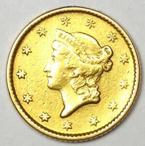 1853 Liberty Gold Dollar G$1 Coin - AU Details - Rare Coin!