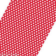 5 pies Roll Rojo Blanco A Lunares Spot Estilo Fiesta Regalo Wrap Papel De Regalo