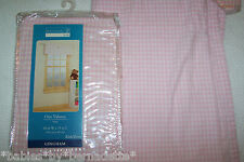 "Home Trends Gingham LIGHT PINK Valances 15""x40"" (2 Panals each 15""x40"") NEW"