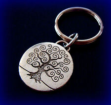 TREE KEYCHAIN Jewelry - Genealogy Tree of Life theme - Art Deco look