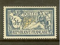 "FRANCE STAMP TIMBRE N°123 "" TYPE MERSON 5F BLEU ET CHAMOIS "" NEUF xx TTB"