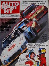 Autosprint 12 1978 Al Mugello le Porsche Loos di Fitzpatrick ed Hezemans   SC.51