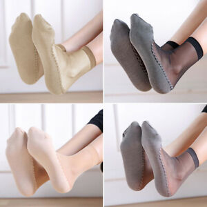 Summer Women Ultrathin Transparent Socks Silk Socks Beautiful Elastic Short Sock