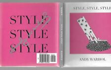 STYLE, STYLE, STYLE  BY ANDY WARHOL, 1997, 1ST EDITION, D/J, MINIBOOK, ILLUS.