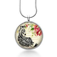 Zebra Pendant Necklace, Zebra Pendant, Animal, fashion jewelry, gifts for women