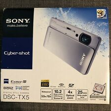 Sony Cyber-shot DSC-TX5 10.2 MP Digital Camera - Silver (touchscreen)