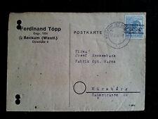 Alliierte Besetzung -Deutsche Post -Karte mit Netzaufdruck - Nürnberg 17.08.1948
