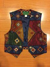 Vintage Wraps Navajo Southwestern Vest sz Small