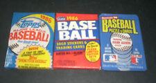 1986 Topps Fleer Donruss Baseball Wax Pack