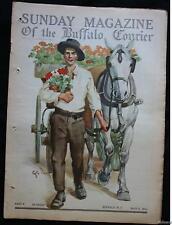 1912 BUFFALO COURIER Magazine Sir Arthur Conan Doyle's LOST WORLD 1st Print