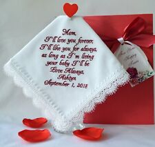 Wedding gift for Mother of the Bride from daughter Personalized handkerchief