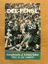 CFB 1976 KANSAS STATE WILDCATS K-STATE KSU Football Schedule FB College