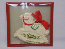 New Lenox Holiday Rocking Horse Cookie Press China Holiday Ornament Christmas