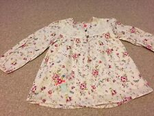 Mama and Papas girls' floral blouse 3-4 years VGC