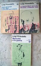 1969 Lotto Di 3 Bände mit Kunst Di Luigi Pirandello