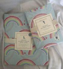 Pottery Barn Organic Blue Rainbow Toddler Duvet Cover & Standard Sham NWT NLA
