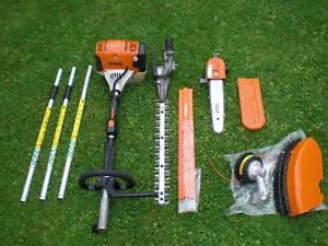 Stihl KM131 Combi Hedge Cutter Trimmer New Strimmer Pruner Chainsaw Kombi km130