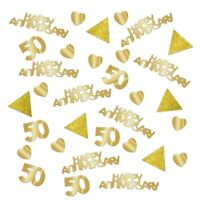 28g Golden Anniversary Confetti Gold 50 Year 50th Wedding Party Table Decoration