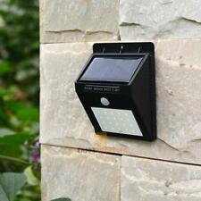 20 LED Solar Power PIR Motion Sensor Wall Light Outdoor Waterproof Garden Lamp
