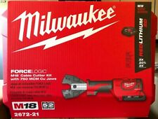 Milwaukee 2672 21 M18 18volt Cable Cutter With Cual Jaws Battery Charger Case