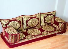 Oriental Floor Seating Sofa Gold Corner Arabic cushions Turkish Moroccan Couches