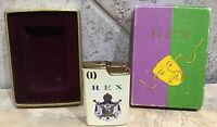REX VINTAGE LIGHTER W ORIGINAL BOX UNTESTED Kings Gift MARDI GRAS KREWE