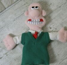 """Vintage Wallace Hand Puppet from Wallace And Gromit 12"""" 1989"""
