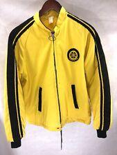 Vintage Mens XL 1960s YAMAHA Fleece Lined Full Zip Jacket Yellow XL